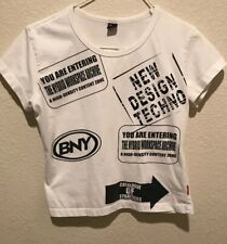 BNY Bunny Medium Ivory/graphics Junior's Top Pre-owned Excellent Condition