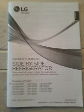 Lg Side By Side Refrigerator Owners Manual