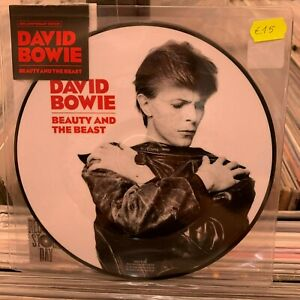 """BOWIE DAVID BEAUTY AND THE BEAST VINILE 7"""" PICTURE DISC NUOVO"""