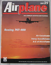 Airplane Issue 39 Boeing 747-400 poster, Fairey Swordfish cutaway drawing