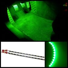 """2X 12"""" Ultra green 12 SMD LED interior strip footwell ambient light exterior #B4"""