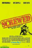 """MOVIE POSTER~Screwed 2000 Double Sided D/S Original 27x40"""" One Sheet Chappelle~"""