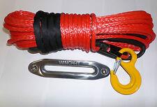 100 FT (ca. 30.48 m) 10 mm SINTETICO WINCH Rope & PASSACAVO Dyneema SK75 tute Self RECUPERO 4x4