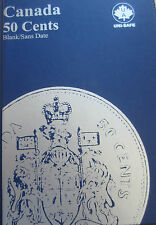 Complete Set of Canada Fifty Cents Coins (1968-2016: 47 Coins) in Blue Book