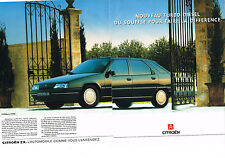 PUBLICITE ADVERTISING   1992   CITROEN ZX   TURBO DIESEL   (2 pages)