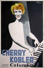 MARRAST VINTAGE POSTER MUSIC HALL POUR CHERRY KOBLER - PIANO Circa 1935