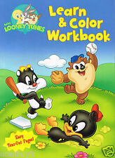 ABCs & Numbers BABY LOONEY TUNES Learn & Color ActivityWorkbook for Boys Ages 3+