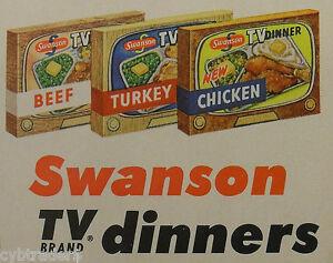 Vintage TV Dinner Metal Tray Refrigerator / Tool  Box  Magnet