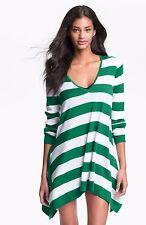 NWT TOMMY BAHAMA WOMEN SzS BEACH HI-LOW SWEATER COVER UP PARAKEET GREEN $118.
