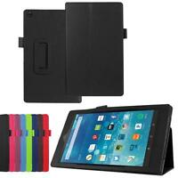 Luxury Leather Stand Cover For Amazon Kindle Fire HD 7/8 Tablet Keyboard Case