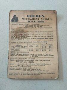 Holden Mechanics Guide HK HT Series Holden Monaro