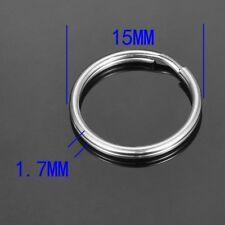 10pcs Stainless Steel Split Rings Key Rings Jewelry Making Supplies 15X1.7mm