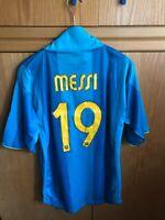 F.C BARCELONA Nº19 MESSI 2007-2008 Away Shirt Trikot Maglia