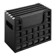 Desktop File Organizer Black Hanging Folders Desk Box Office Document Storage