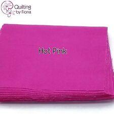 "20 X 10 inch Hot Pink PreCut Layer Cake Fabric Squares, 10"" x 10"", Cotton"