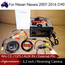 "6.2"" Nav Car DVD GPS For Nissan Navara 2007-2016 D40 with AUX IN External-MIC"