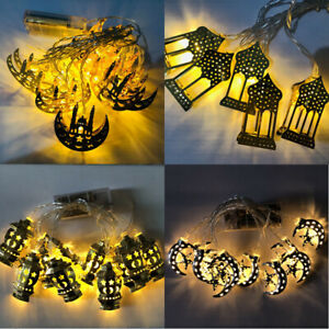 10 LED Ramadan and Eid LED String Fairy Light Islamic Party Decor Supplies 1.65M