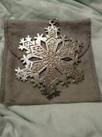 """1971 MMA Sterling Silver Snowflake Christmas Ornament 3 1/2"""""""