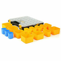 41cm Plastic Organiser Storage Tool Box 15 Compartment Parts Screws Nails