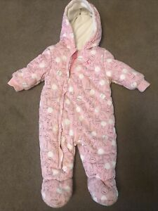 Joules Baby Girl Soft Feel Snow Suit 3-6 Months