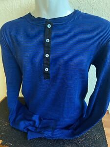 Schiesser Revival Herren Langarm-Shirt Karl-Heinz royal blau Gr. 6 L Neu