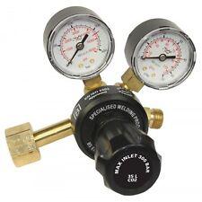 CO2 Botella de Gas Regulador Soldadora Soldadura entrada lateral doble calibre de una etapa 2144