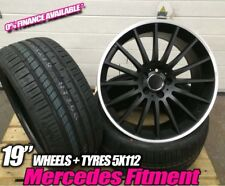 """19"""" mercedes c63 style alloy wheels fits E class staggered with tyres fitted"""