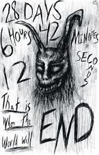 "Donnie Darko Frank The Rabbit ""28 Days"" 11 x 17 High Quality Poster"