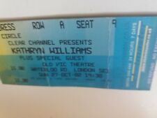 Kathryn Williams ticket, Old Vic Theatre, London, October 2002