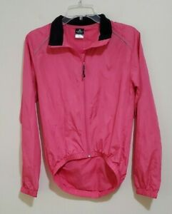 NEW Canari Cyclewear Cycling Microlight Zip Front Shell Jacket Pink Women's S