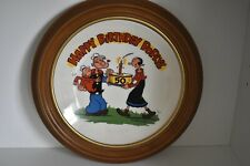 Popeye 50th birthday plate ceramic numbered 6048 1979 Spinach Powered Hero