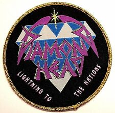 diamond head lightning to the nations    WOVEN  PATCH