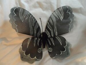 butterfly wings display home decor black white grey goth fairy shop display