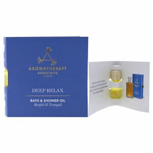 Deep Relax Bath And Shower Oil by Aromatherapy Associates for Unisex- 0.1 oz Oil