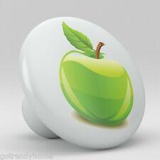 Green Apple Fruit Ceramic Knobs Pulls Kitchen Drawer Cabinet Vanity Closet 405