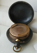 Antique small button opening small Sovereign Holder Fob