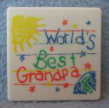 World's Best Grandpa Plastic Magnet, Souvenir, Travel, Refrigerator