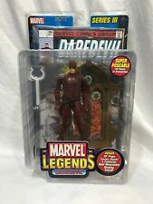 Marvel Legends DAREDEVIL SERIES III NIB WITH COMIC BOOK AND MOUNT