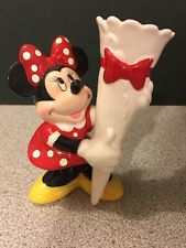Disney Minnie Mouse Bud Vase Ceramic Figurine Enesco