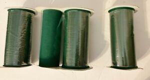 "3 New Full 6"" X 25 Yard Spools + 1 Partial Spool Emerald Green Tulle-Flawless *M"