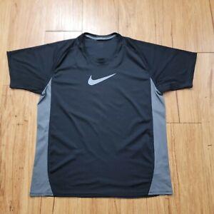 NIKE Dri Fit T Shirt Men's XL Performance Athletic Polyester Activewear Black