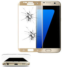 Safety Glass Samsung Galaxy S7 Edge G935F Screen Protector Complete Curve Gold