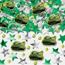 Amscan 14g Boy CAMOUFLAGE ARMY MILITARY TANK Foil Table Confetti Party Sprinkles