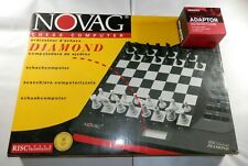 Vintage NOVAG DIAMOND CHESS COMPUTER Electronic Game Set Board Complete Works