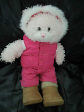 PINK BUILD A BEAR with REDDISH PINK OUTFIT AND BOOTS * REAL NICE * BUILD-A-BEAR