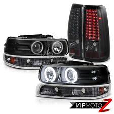99-02 Chevy Silverado 1500 2500HD Amber LED Signal [BRIGHT LED] Smoke Tail Light
