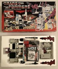 Transformers G1 (1985) METROPLEX Complete w/Rubber wheels, Sticker Sheet - Japan