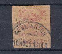 New Zealand 1925 1/2d Early Machine Cancel Wellington CDS J9582