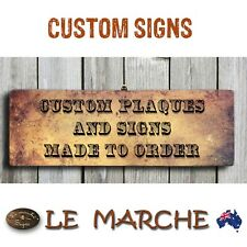 CUSTOM Rustic Wooden Plaque / Sign Made to Order - IMAGE &/or TEXT (FREE POST)