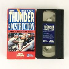 The Best Of Thunder And Destruction NFL's Hardest Hits VHS 1992 NFL Films Video